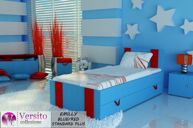 EMILLY BLUE-RED STANDARD PLUS