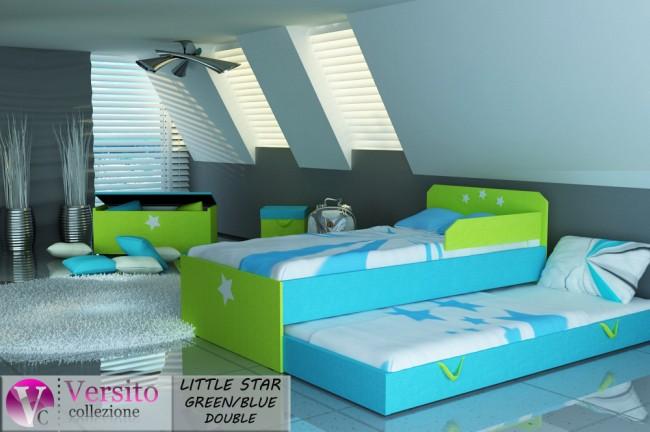 LITTLE STAR GREEN-BLUE DOUBLE