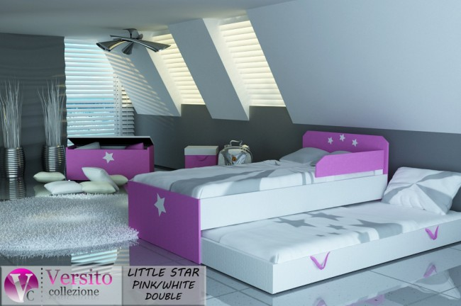 LITTLE STAR PINK-WHITE DOUBLE
