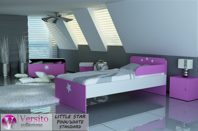 LITTLE STAR PINK-WHITE STANDARD