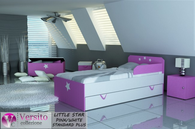 LITTLE STAR PINK-WHITE STANDARD PLUS