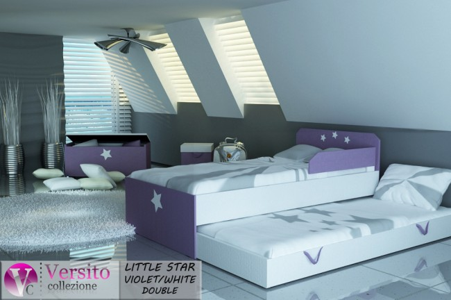 LITTLE STAR VIOLET-WHITE DOUBLE