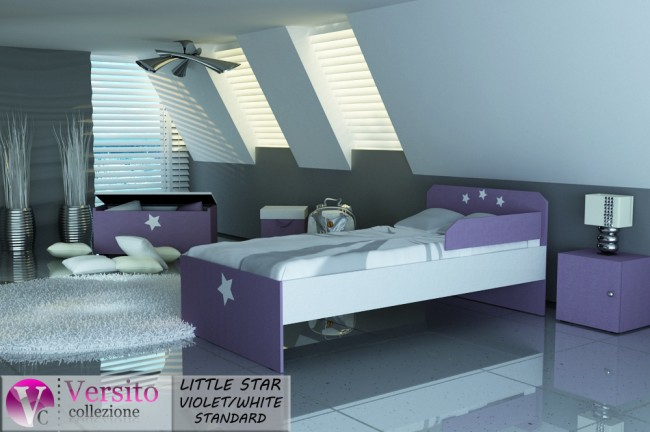 LITTLE STAR VIOLET-WHITE STANDARD