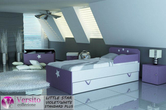 LITTLE STAR VIOLET-WHITE STANDARD PLUS