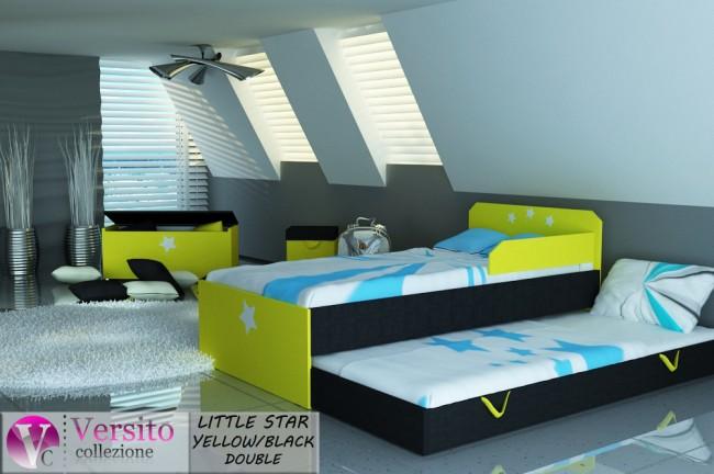 LITTLE STAR YELLOW-BLACK DOUBLE