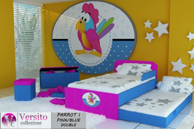 PARROT I PINK BLUE DOUBLE