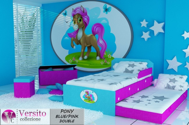 PONY BLUE-PINK DOUBLE
