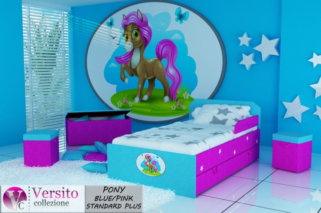 PONY BLUE-PINK STANDARD PLUS