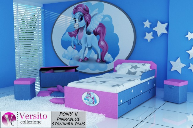 PONY II PINK-BLUE STANDARD PLUS
