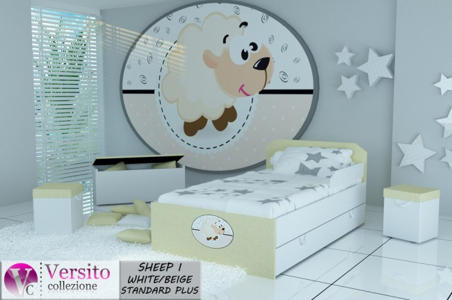 SHEEP I WHITE-BEIGE STANDARD PLUS