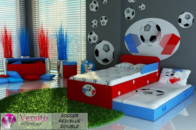 SOCCER RED-BLUE DOUBLE
