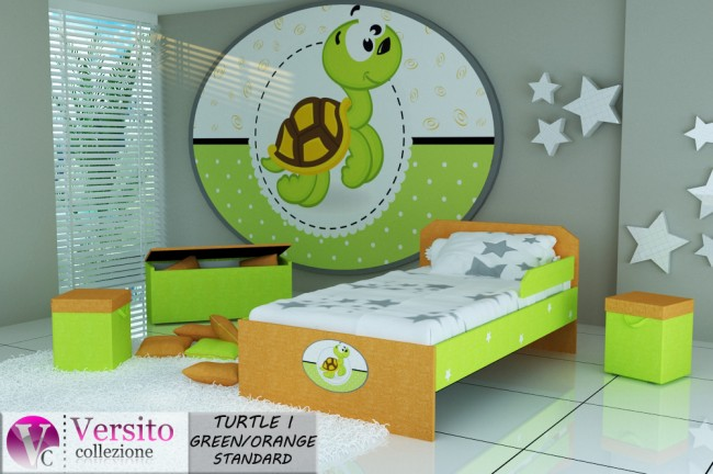 TURTLE I GREEN-ORANGE STANDARD