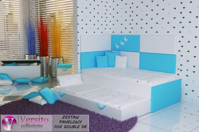 łóżko piętrowe FOX DOUBLE 58