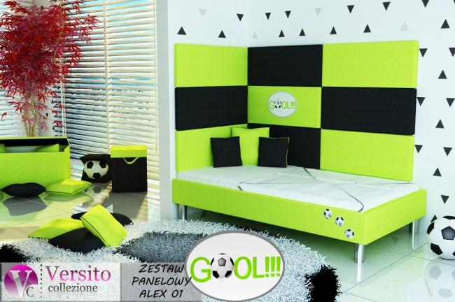 panel tapicerowany, panel ścienny, miękka ściana, wezgłowie łóżka ALEX 01