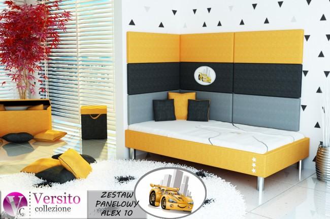 panel tapicerowany-panel ścienny-miękka ściana-wezgłowie łóżka ALEX 10