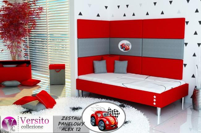 panel tapicerowany-panel ścienny-miękka ściana-wezgłowie łóżka ALEX 12