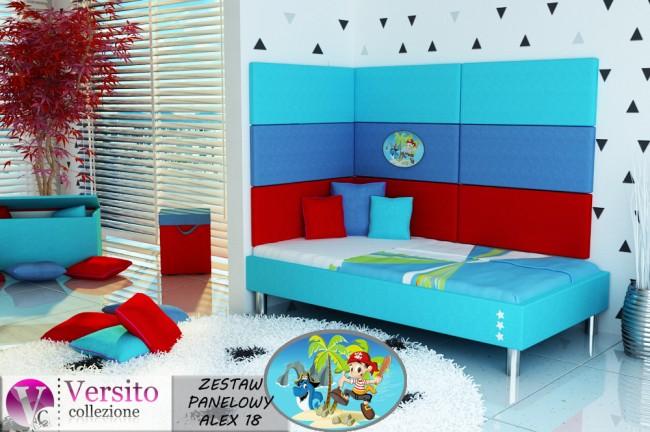 panel tapicerowany-panel ścienny-miękka ściana-wezgłowie łóżka ALEX 18